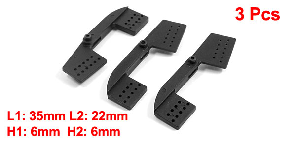 3pcs RC Remote Control Aircraft Spare Parts 35mm+22mm 6mm Rocker Arm Black