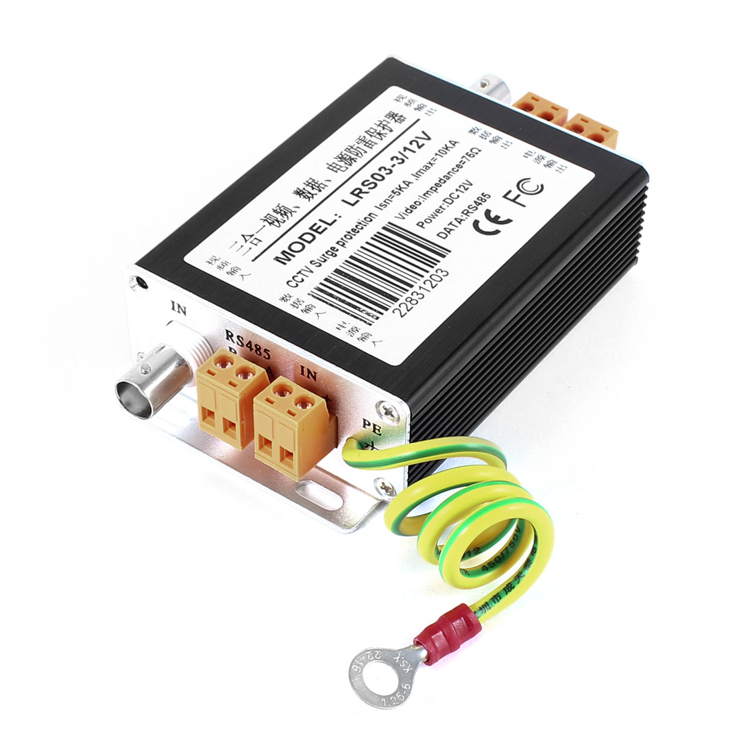 DC-12V-Aluminum-3-in-1-Video-Data-Power-Lighting-Surge-Protection-Protector