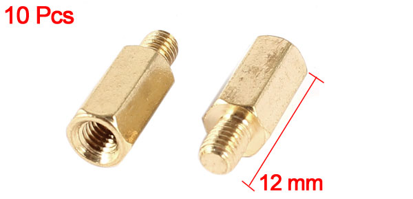 10 Pcs PC PCB Motherboard Brass Standoff Hexagonal Spacer M3 8+4mm