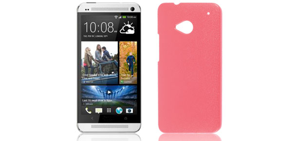 Red Litchi Printed Hard Plastic Back Case Cover Protector for HTC One M7