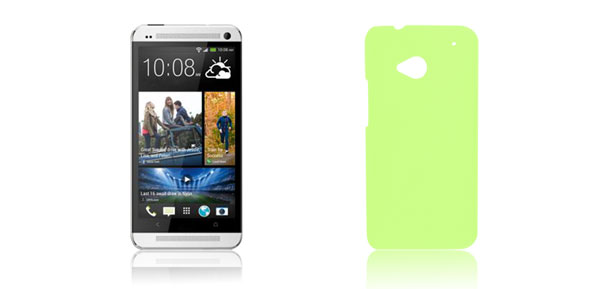 Green Litchi Printed Hard Plastic Back Case Cover Protector for HTC One M7