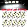 X Autohaux 10X Canbus Error Free 42MM Festoon 8SMD 5050 Pure Whit...