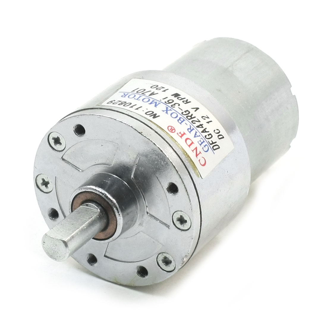 DC-12V-120RPM-2Pins-Connector-81mm-Length-Gearbox-Motor