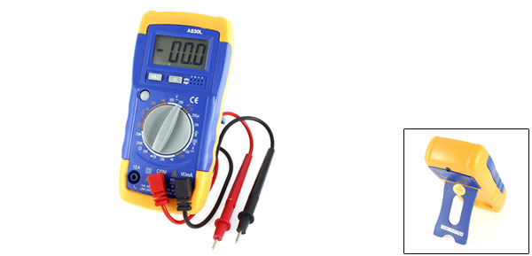 Battery Power LCD Display Volt Frequency Digital Multipurpose Meter A830L