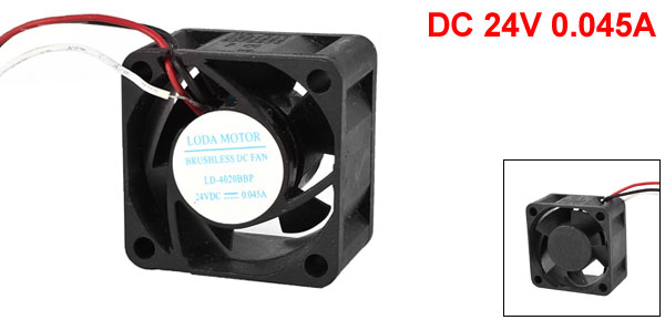 DC 24V 0.045A 40mmx40mmx20mm Plastic 5 Blades Cooling Fan for Computer Case CPU Cooler