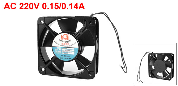 AC 220V 0.15/0.14A 135mmx135mmx40mm 5 Blades Cooling Fan for Computer Case CPU Cooler