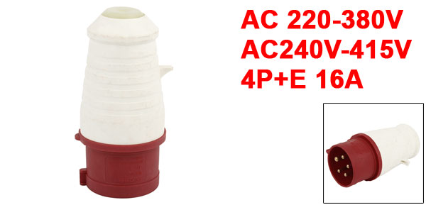 IEC309-2 16A 5 Pin + Single Phase Industrial Waterproof Socket Connector