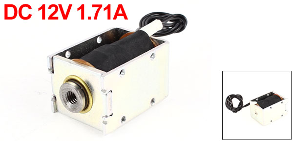 DC 12V 1.71A 2mm/5mm 1300gf/850gf  Pull Type Open Frame Eletric Actuator Solenoid Electromagnet