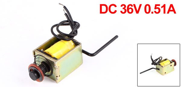 DC 36V 0.51A 1mm/3mm 250gf/50gf Push Pull Type Open Frame Eletric Actuator Solenoid Electromagnet