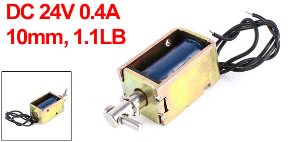 DC 24V 0.4A 10mm Stroke 0.5Kg Force Pull Type Open Frame Eletric Actuator Solenoid Electromagnet