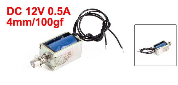 DC 12V 0.5A 4mm Stroke 100gf Force Pull Type Electric Solenoid Electromagnet