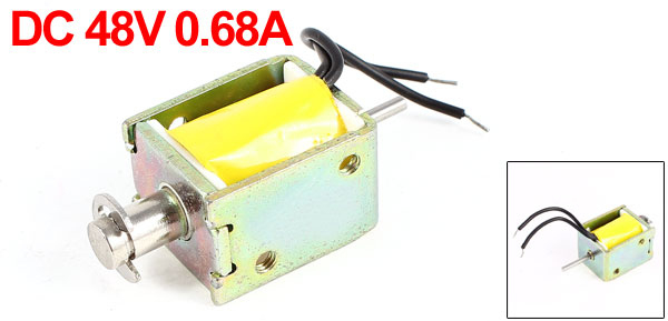 DC 48V 0.68A 1mm/5mm 300gf/50gf Push Pull Type Open Frame Eletric Actuator Solenoid Electromagnet