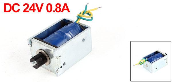 DC 24V 0.8A 10mm Stroke 2.5LB 1.1Kg Pull Type Open Frame Eletric Actuator Solenoid Electromagnet