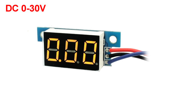Digital DC 0-30V LED Display Yellow Digit Voltage Tester Gauge Panel Voltmeter