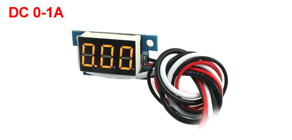 Digital DC 0-1A Yellow LCD Display Current Tester Gauge Panel Ammeter AMP Meter