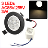 3W Recessed Ceiling Downlight Warm White Energy Saving Spot Bulb + LED Driver