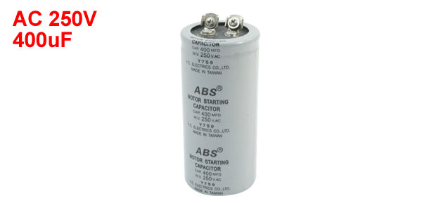 AC250V 400MFD 400uF 2 Screw Terminals Motor Start Capacitor
