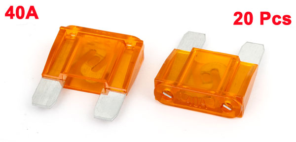 20 Pcs Car Truck Automotive Orange Plastic Large Fast Blade Fuse 40A