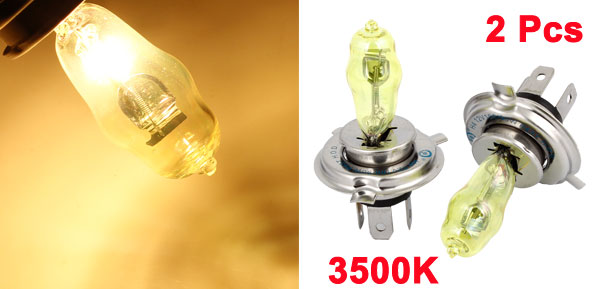 Pair HOD Xenon H4 90/100W 3500K Yellow Van Car Foglight Light Driving Lamp 12V