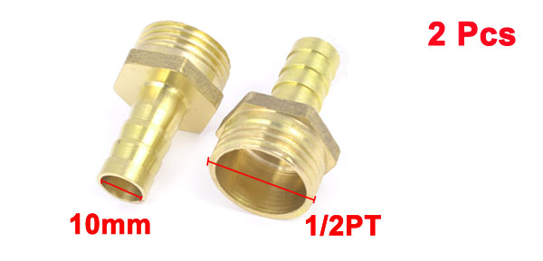 2pcs 1/2PT Male Thread to 3/8