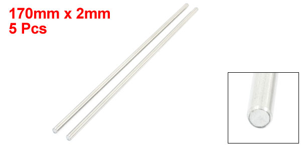 5Pcs Milling Welding Working Stainless Steel Round Rods 170 x 2mm