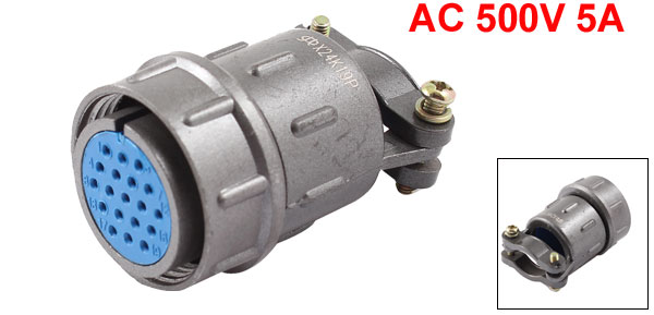 AC 500V 5A 19P Terminal Female Aviation Connecting Plug Coupler