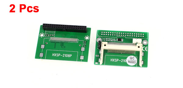 2 Pcs CF Compact Flash to 3.5
