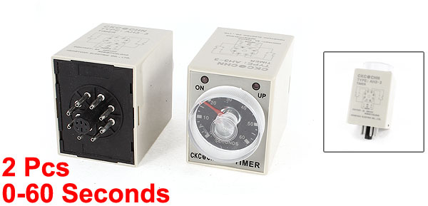 2 Pcs AH3-3 Foot Sealer PCB 0-60 Seconds Timer Heating Time Relay Regulator
