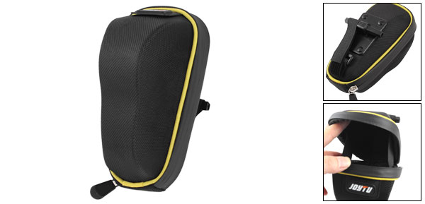 Bike Bicycle Cycling Saddle Seat Rear Tail Bag Pouch Black Yellow