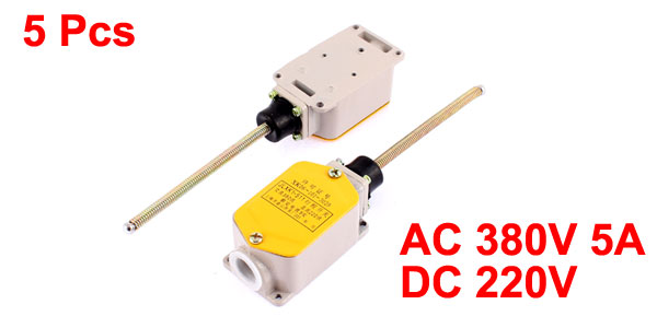5 Pcs AC380V DC220V 5A Flexible Coil Spring Rod Level Limit Switch for CNC Mill Plasma