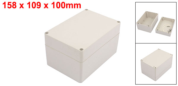 166mmx130mmx57mm Waterproof Plastic Case DIY Junction Box Joint Hinged Lid