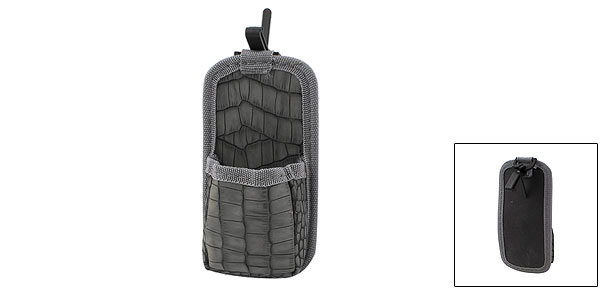 Car Air Vent Dark Gray Faux Leather Coated Key Phone Storage Bag