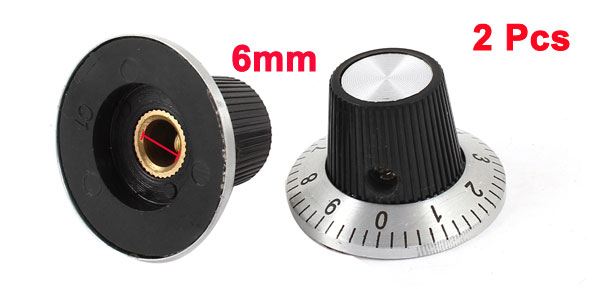 2 Pcs 15mm Top Dia Potentiometer Control Volume Rotary Digital Knob Cap 30mm x 18mm