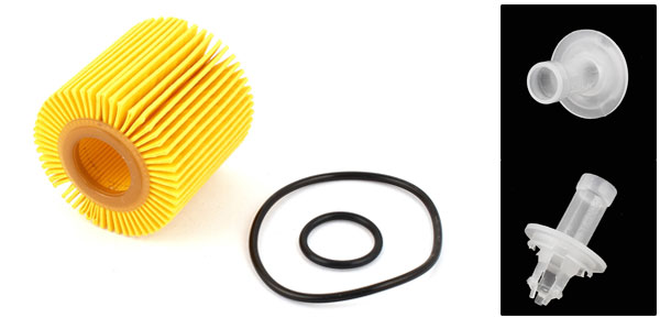 Automobile Car Engine Cartridge Oil Filter Yellow w Seal Ring
