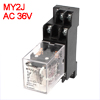 MY2J-AC36V Coil General Purpose Relay DPDT 8 Pin 5...