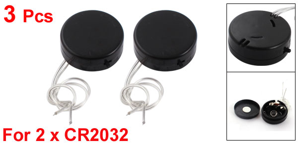3pcs Round 2 x CR2032 Coin Button Cell Battery Holder Case Storage