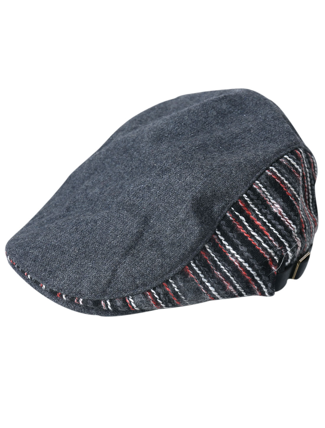 Ascot Style Stripes Embroidery Visor Cap Hat for Men