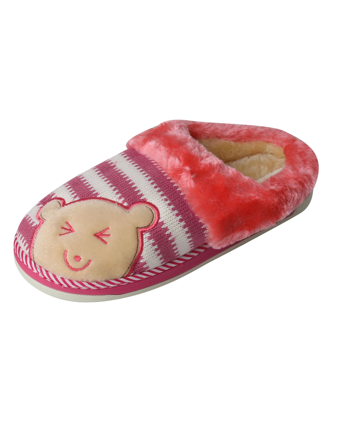Bear Pattern Knit Detail Warmer Slippers for Women