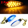 F FIERCE CYCLE 2 Pcs Motorcycle Turn Signal Yellow LED Lights Ind...