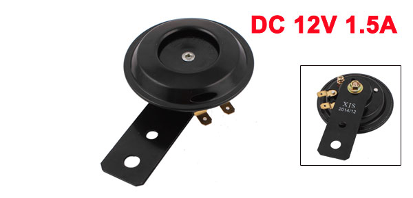 Absopro Black Metal Sound Alarm Car Auto Trumpet Horn Audio Speaker DC 12V 1.5A 105dB