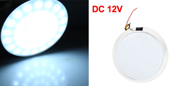 X Autohaux White LED Automotive Dome Roof Ceiling Interior Light Lamp DC 12V