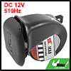 Motorcycle Black Plastic Snail Shaped Warn Horn Speaker 510Hz DC ...