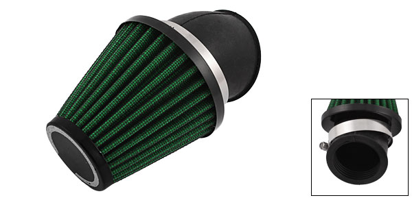 Motoforti 48mm Dia Adjustable Clamp Air Filter Green for Motorbike Scooter
