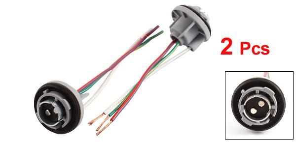 DC 12V BAY15D 1157 LED Car Signal Stop Brake Bulb Lamp Light Socket Holder 2 Pcs