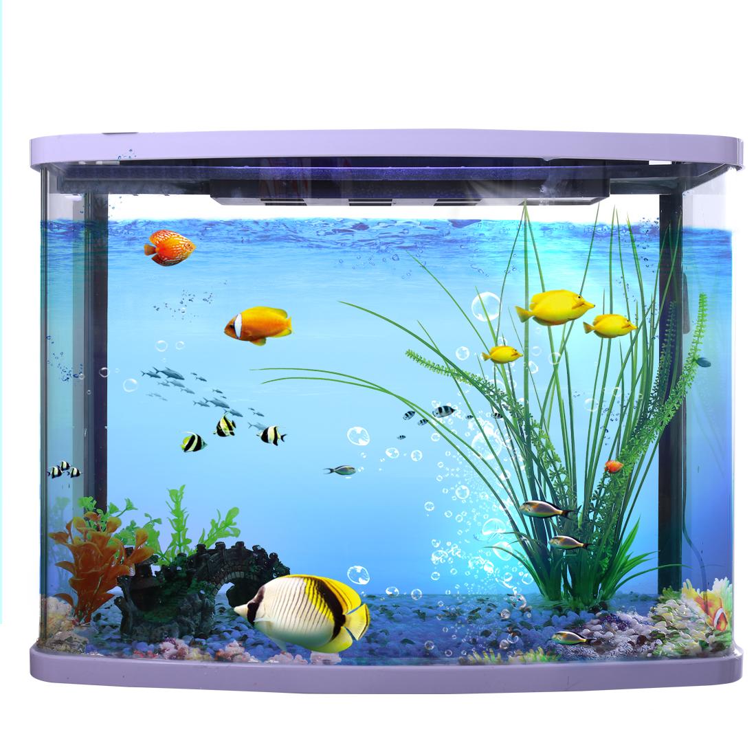 40cm max long Vert Feuille Plante d'aquarium en plastique Décoration d'aquarium 2