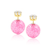 Fashion Women Elegant Double Sides Zircon Faux Cry...