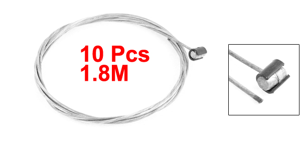 Motoforti 10 Pcs 1.8M Length 1.6mm Dia Steel Flexible Throttle Clutch Cable Wire for Motorcycle