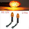 F FIERCE CYCLE 2pcs Plastic Shell Turn Signal Blinker Amber Indic...