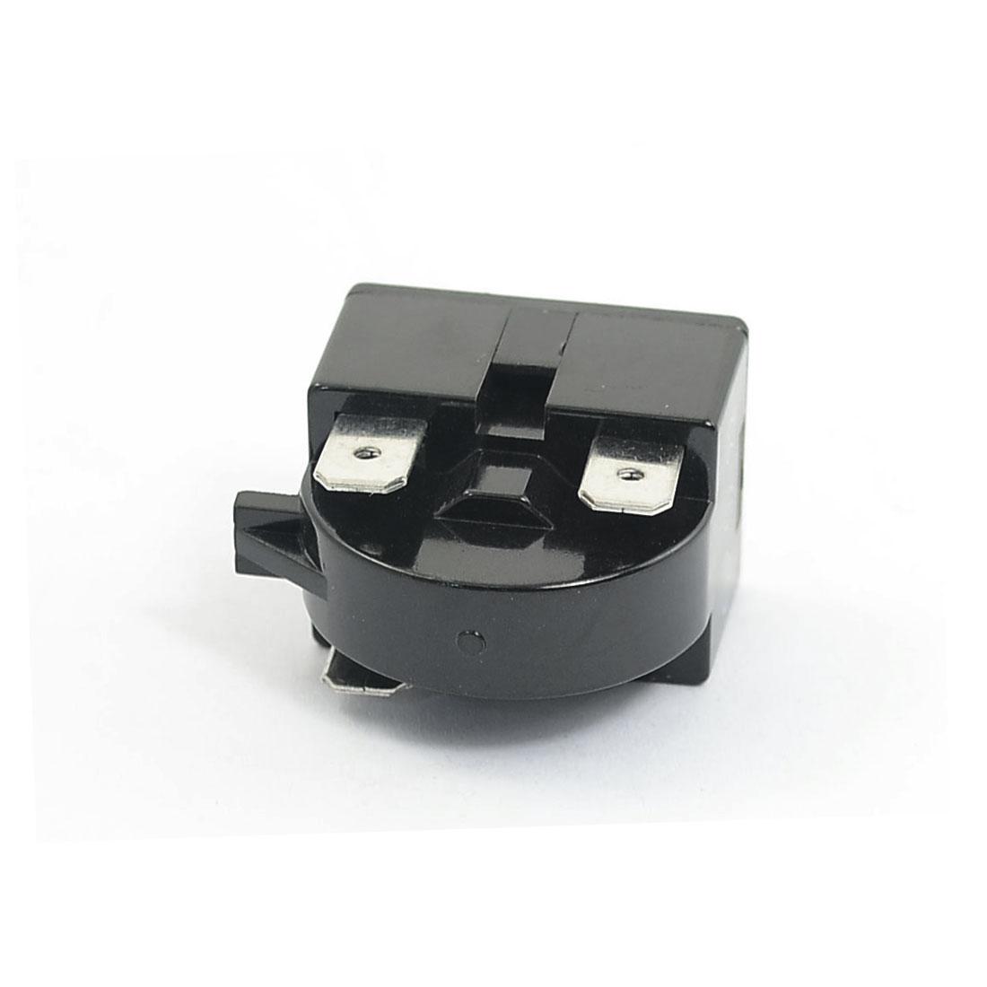 Plastic Shell 22 Ohm 3 Pins Refrigerator PTC Starter Relay Black 3