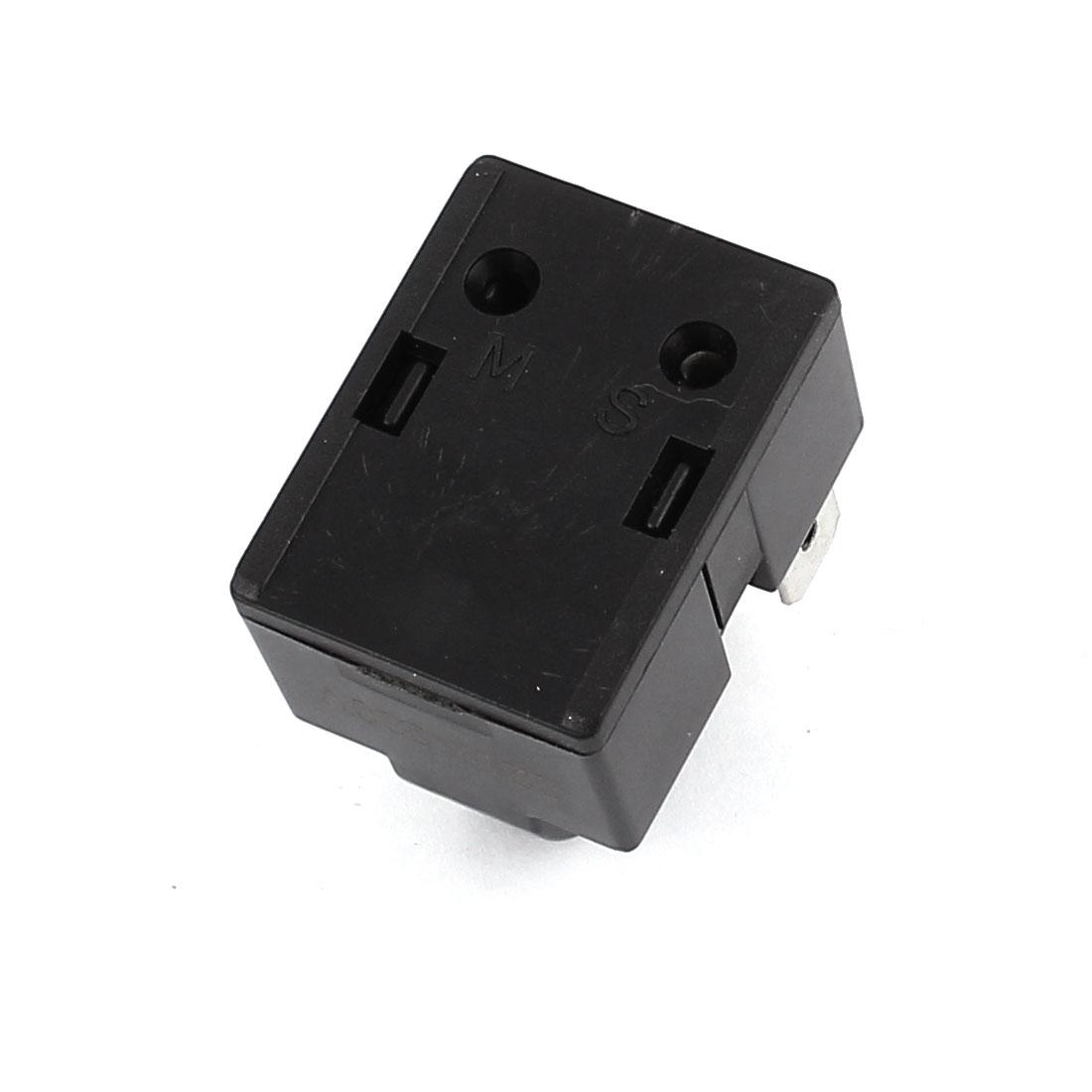 2Pcs 220V Plastic Shell 22 Ohm 2 Terminals Refrigerator PTC Starter Relay Black 2
